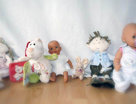 Puppen fotografieren statt Kleider...